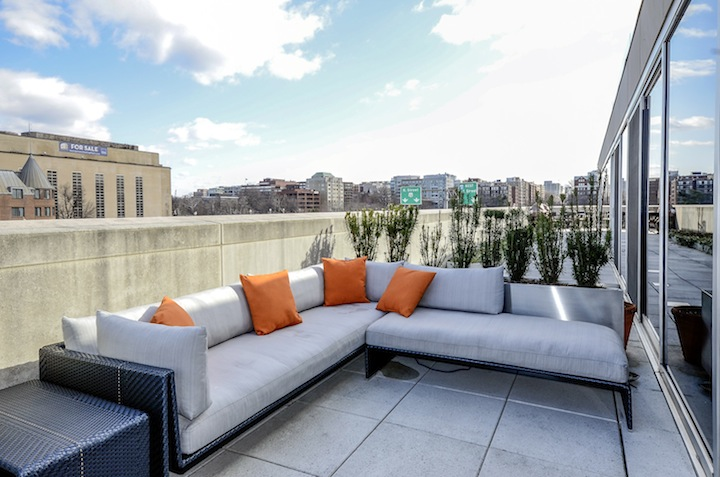 Roof deck in condo at 2900 K St NW DC