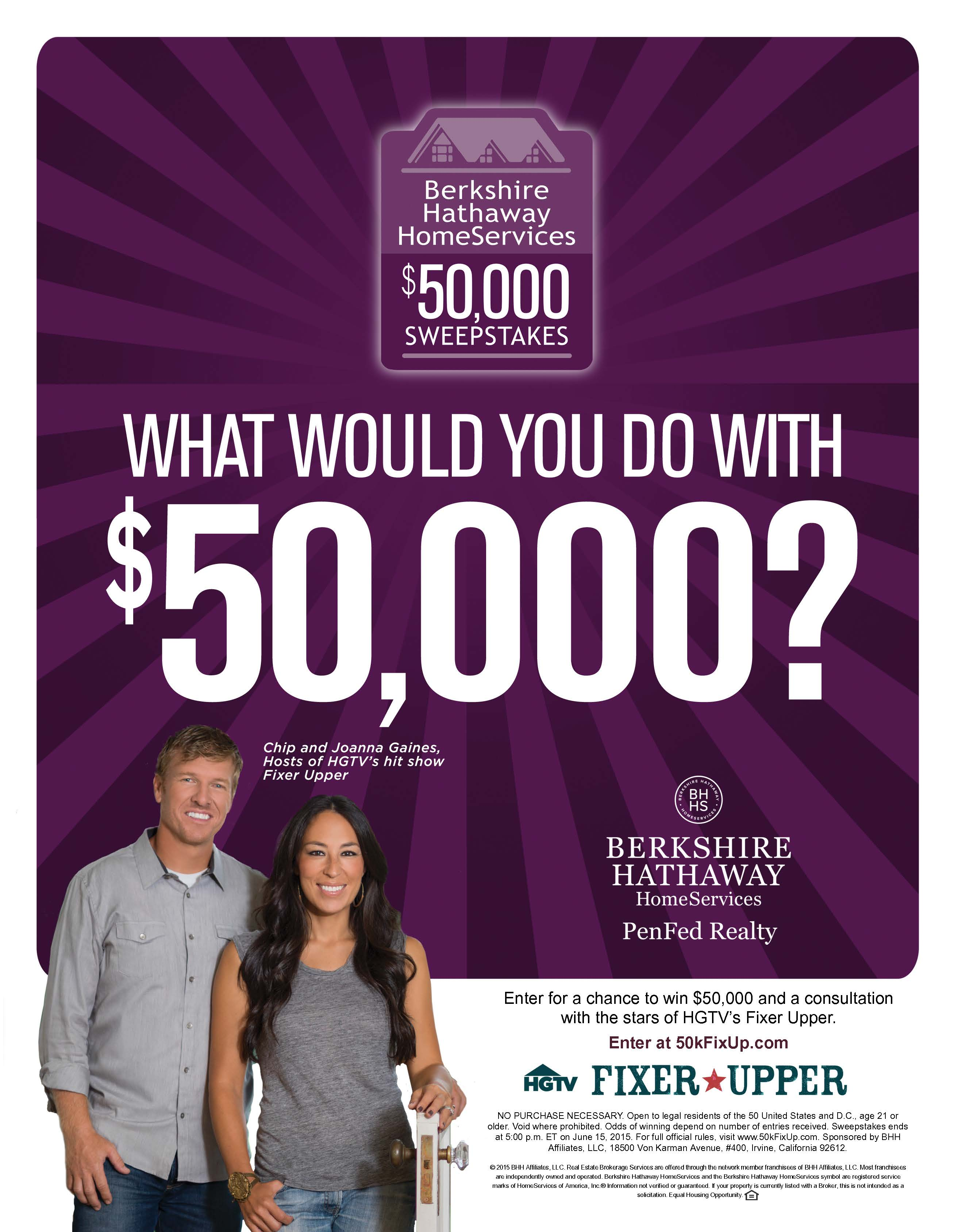 $50,000 Sweepstakes Flier