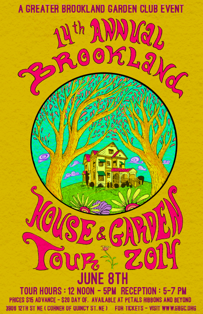 Brookland Home and Garden Tour 2014 poster