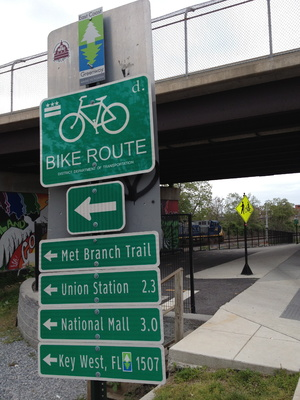 Metropolitan Branch Bike Trail in Brookland Washington DC
