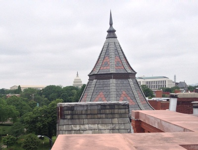 Capitol Hill rooftop views of The Capitol, Washington Monument and Supreme Court in Washington DC