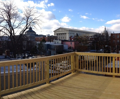 Capitol Hill Roof deck with view of Capitol, Supreme Court and Library of Congress