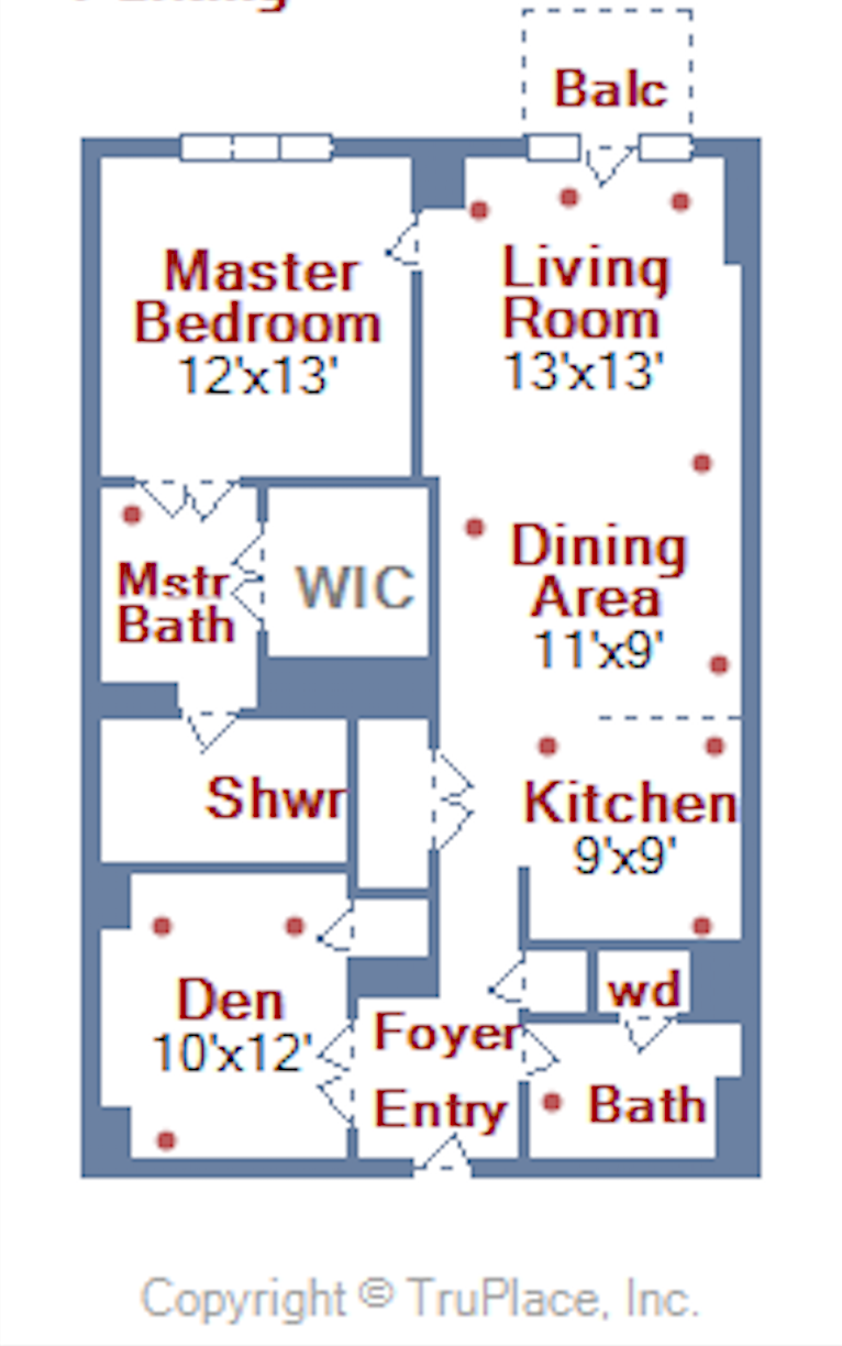 1001 L ST NW Washinton DC #305 floor plan