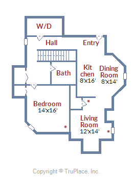 2815 6th ST NE Washington DC Lower level floor plan