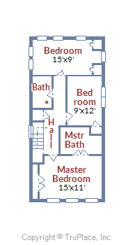 3128 10th ST NE DC upper floor plan