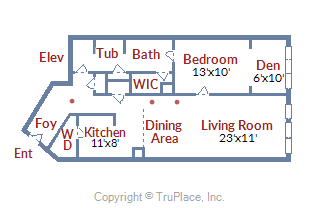 400 Massachusetts Ave NW #PH1301 Floor plan