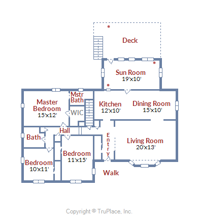 5430 Brookland Rd, Alexandria, VA  floor plan main level