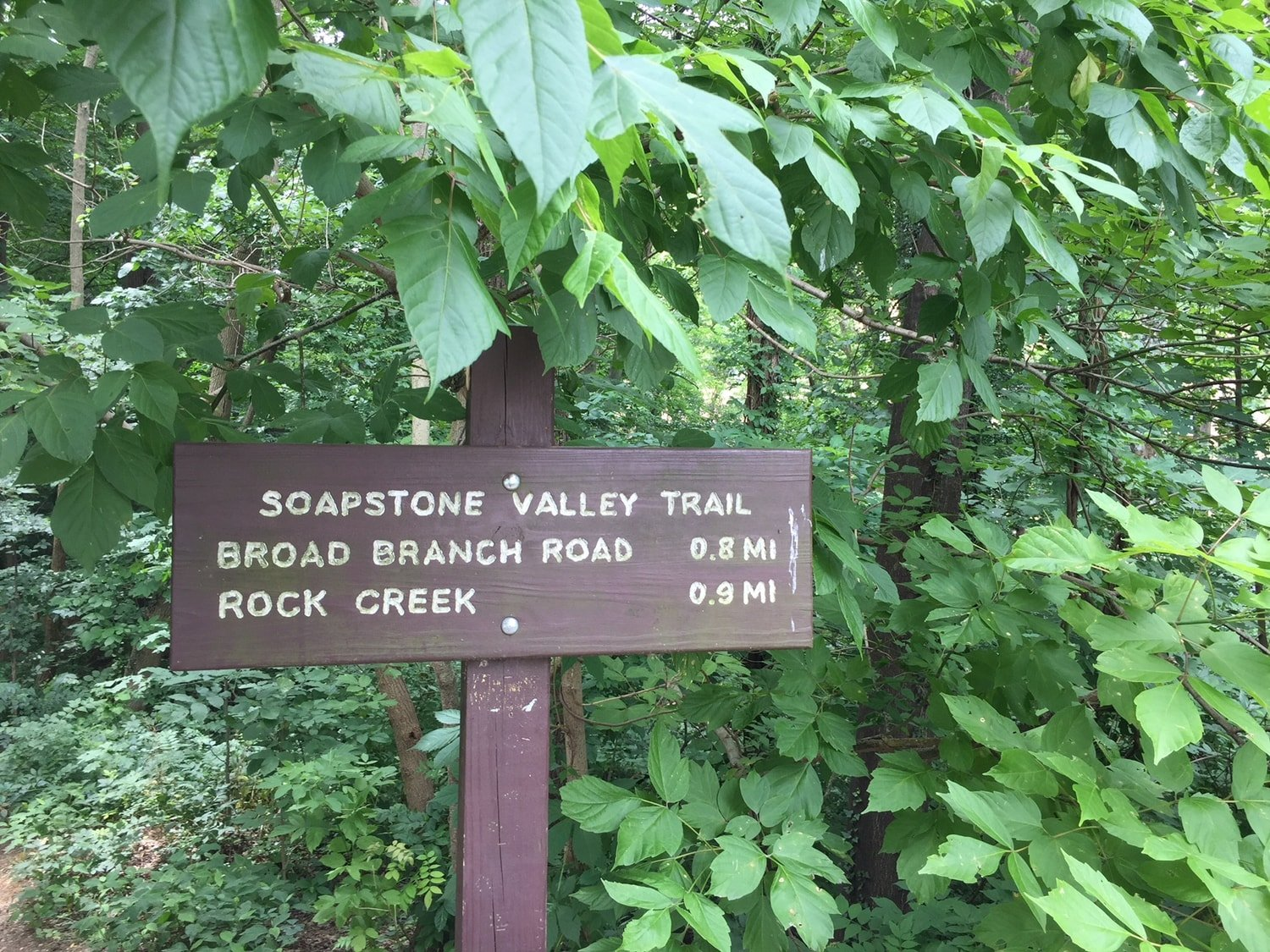 Soapstone Valley Trail Sign - Van Ness - Washington, DC