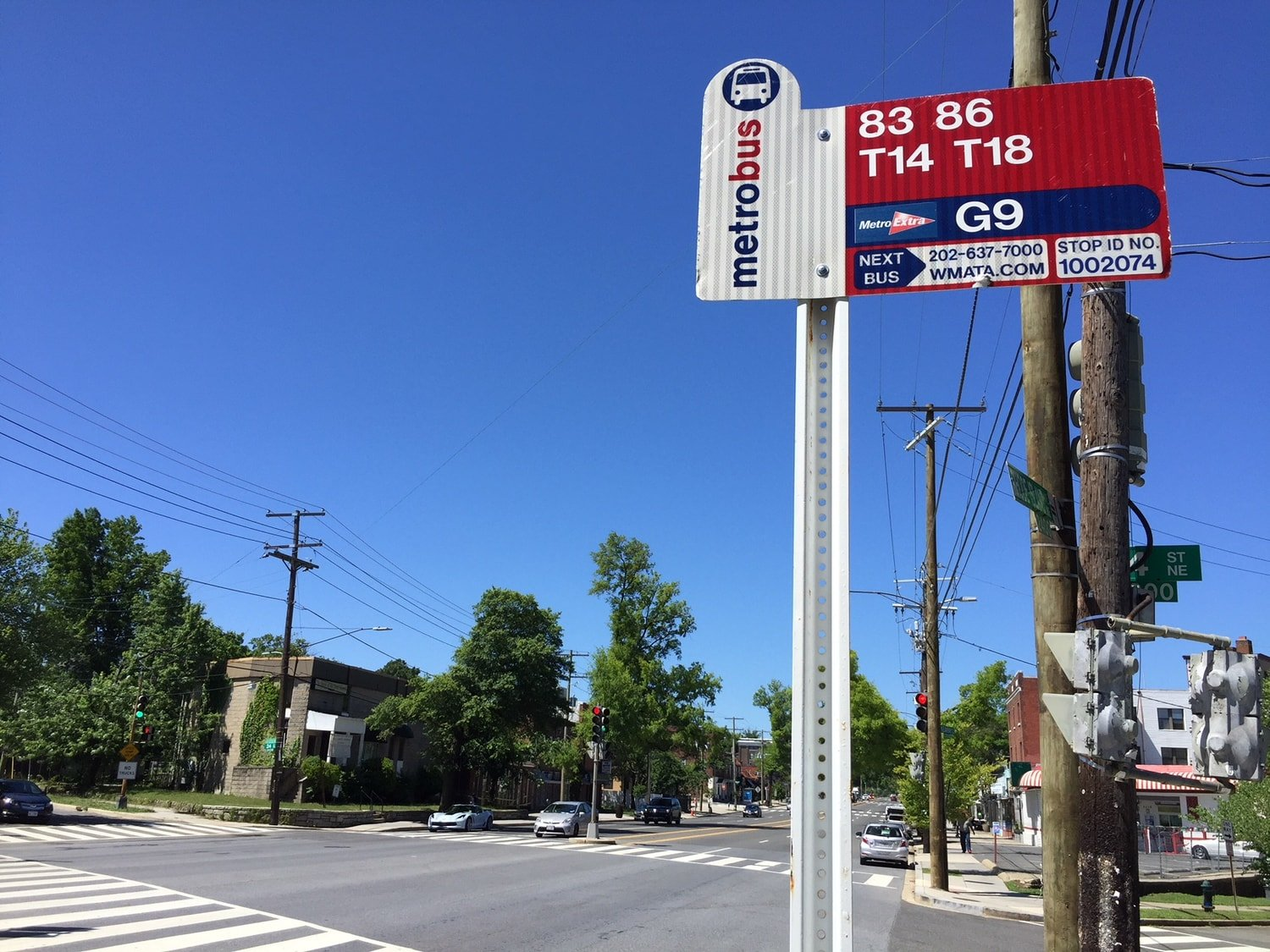 Metro Bus Stop - Woodridge - Washington, DC