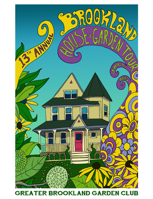 Brookland house and garden tour official poster