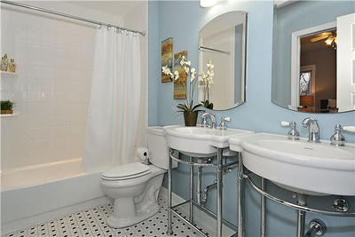 Master Bath: 610 Elliott St NE Washington DC.  Capitol Hill.
